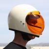 Biltwell Open Face Motorcycle Helmet Bubble Shield Visor Anti-Fog - Amber