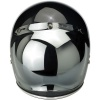 Biltwell Open Face Motorcycle Helmet Bubble Shield Visor Anti-Fog - Chrome Mirror