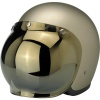 Biltwell Open Face Motorcycle Helmet Bubble Shield Visor Anti-Fog - Gold Mirror