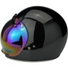 Biltwell Open Face Motorcycle Helmet Bubble Shield Visor Anti-Fog - Rainbow Mirror