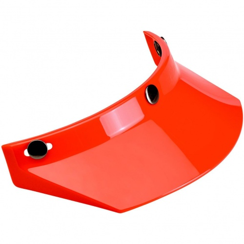 Biltwell Open Face Motorcycle Helmet Moto Visor Peak - Orange