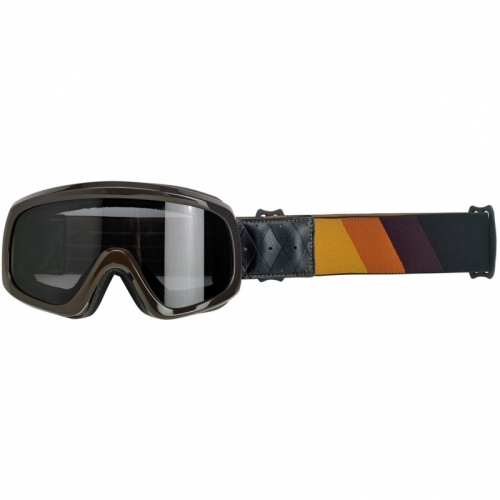 Biltwell Overland 2.0 Tri-Stripe Goggles Black Red Orange