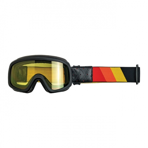 Biltwell Overland 2.0 Tri-Stripe Goggles Red Yellow Orange