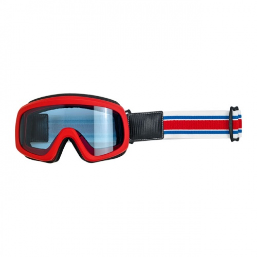 Biltwell Overland 2.0 Racer Goggles Red White and Blue