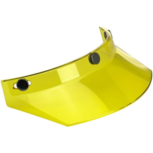 Biltwell Open Face Motorcycle Helmet Moto Visor Peak - Yellow