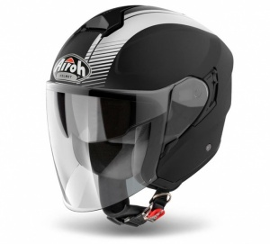 Airoh Hunter Urban Jet Helmet - Simple Matt Black