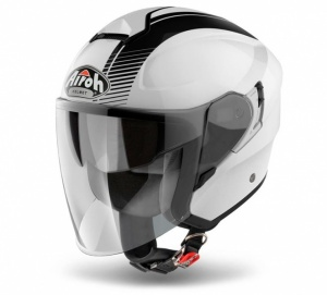 Airoh Hunter Urban Jet Helmet - Simple White Gloss
