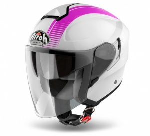 Airoh Hunter Urban Jet Helmet - Simple Pink Gloss