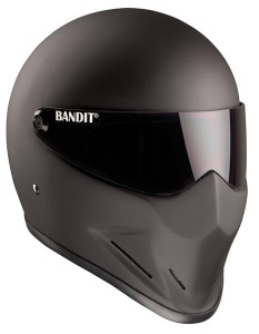 Bandit Crystal Motorcycle Helmet - Matt Black