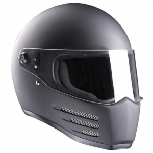 Bandit Fighter Motorcycle Helmet - Matt Black