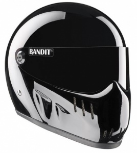 Bandit XXR Motorcycle Helmet - Gloss Black
