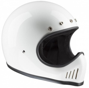 Bandit Historic Motocross Motorcycle Helmet - White