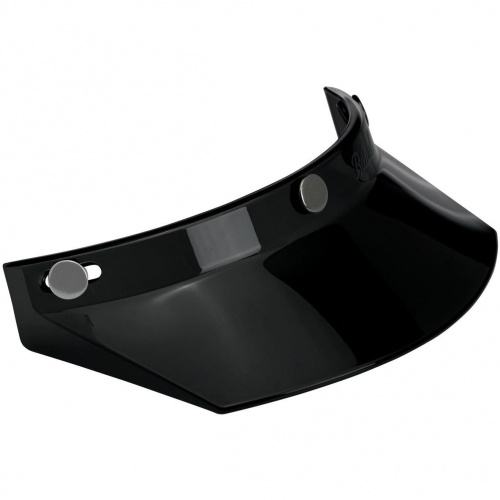Biltwell Open Face Motorcycle Helmet Moto Visor Peak - Black