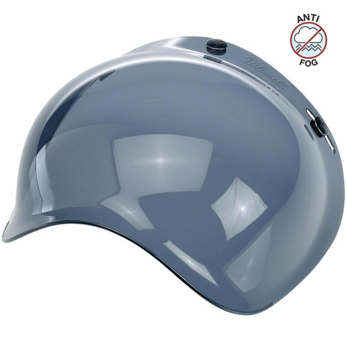 Biltwell Open Face Motorcycle Helmet Bubble Shield Visor Anti-Fog - Smoke