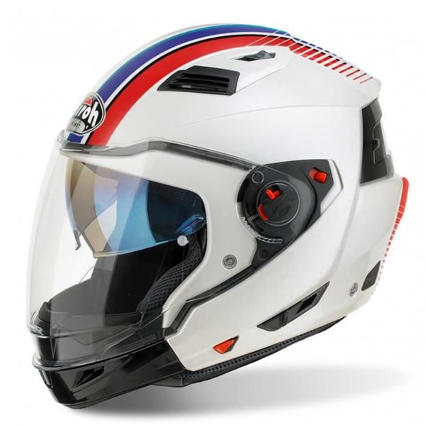 Airoh Executive R Helmet - Stripes White Gloss