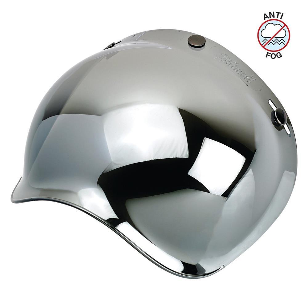 Open Face Bubble Shield Chrome Silver