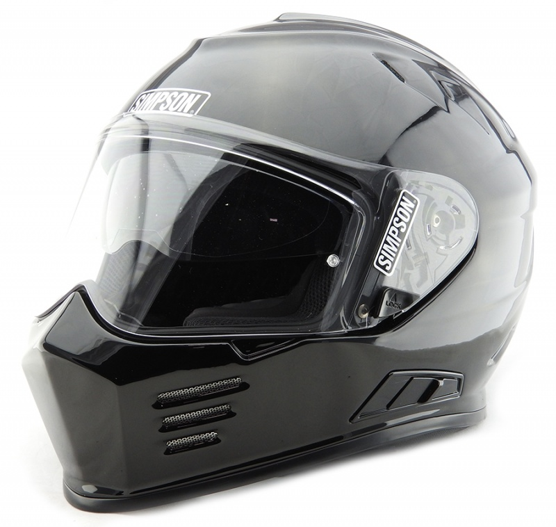 Simpson Venom ECE Motorcycle Crash Helmet Gloss Black