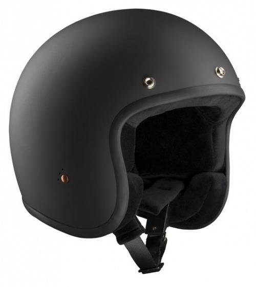 Bandit Jet ECE Open Face Motorcycle Helmet - Matt Black