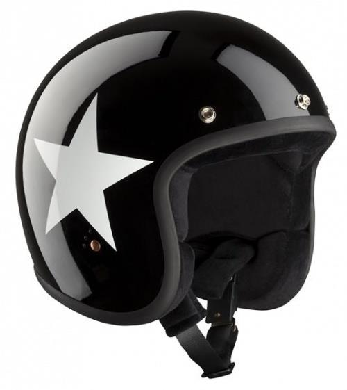 Bandit Jet ECE Open Face Motorcycle Helmet - Star Black