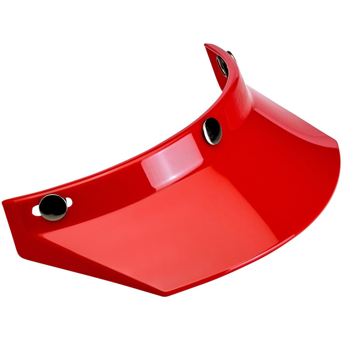 Biltwell Open Face Motorcycle Helmet Moto Visor Peak - Red
