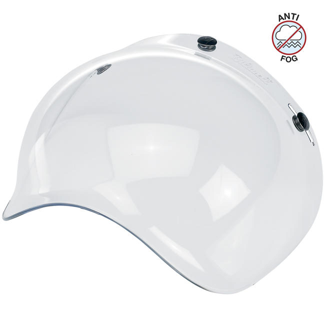 Biltwell Open Face Motorcycle Helmet Bubble Shield Visor Anti-Fog - Clear