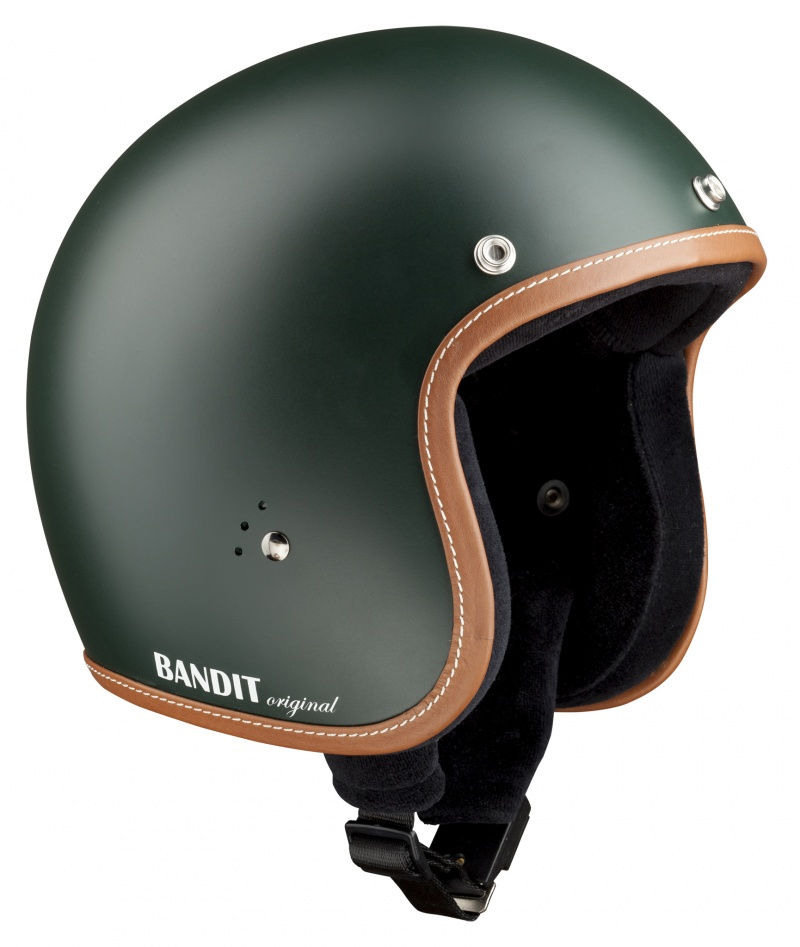 Bandit Jet Premium British Racing Green Open Face Motorcycle Helmet