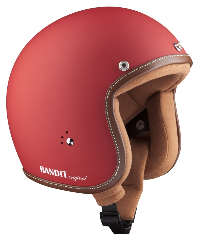 Bandit Jet Premium Matt Red Open Face Motorcycle Helmet